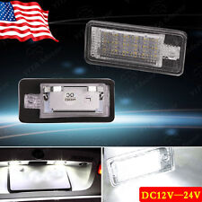 2x White 18SMD LED License Plate Light for Audi A3 A4 A6 B6 Q7 RS4 Error Free US
