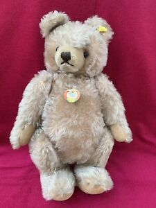 "Vintage Steiff Original Teddy Bear 0202/41 Jointed w/ Button Growler Austria 15"""