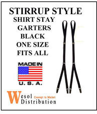 NEW BUNDLE - 6 SETS - Stirrup Style Shirt Stay Garters 2-Pack s / t