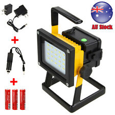 Portable 30W 20LED Flood Spot Work Light Rechargeable Outdoor Camping 18650 Lamp
