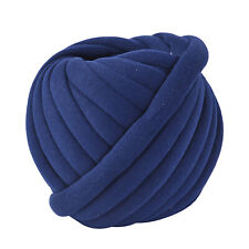 Dark Blue Polyester Cotton Hand knitted Yarn Chunky Hand Knitting Soft 52.5 Ft