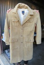 Gap Ladies Slim Tan Trench Coat Leather 100%
