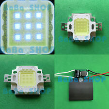 10W Cool Cold White 20000K High Power LED Lamp Spotlight + A/DC Driver 12V-24V