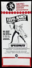 ELVIS PRESLEY ORIGINAL FILMPLAKAT SPEEDWAY 1968 MIT BILL BIXBY GALE GORDON