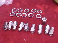 10,12mm x 1.5 nhra open end mag wheel lug nuts,cragar with offset washers,rat,