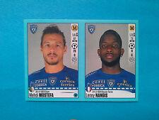 Panini Foot 2016-17 n. 78-79 Mehdi Mostefa, Lenny Nangis, Bastia