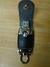 Black Leather Key Chain Faux 64GB 2.0 Flash Drive (Actually 6.6GB)