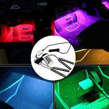 4x 9 LED Lampe Ampoule RGB Lumière Déco Voiture Intérieur Cigare Télécommande NF