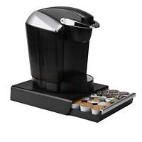 Coffee Pod Storage Drawer, Holds 30 K-Cups, 35 CBTL, Verismo, Dolce Gusto, Black