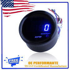 "Car Motor 2"" 52mm Blue Digital LED Elec 0-9999 RPM Tachometer  Tacho Gauge"