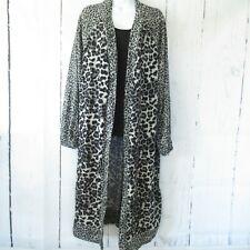 New Umgee Duster Cardigan Sweater 2X Leopard Animal Print Open Front Plus Size