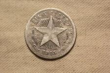 New Listing1915 Central America Veinte 20 Centavos Silver .900