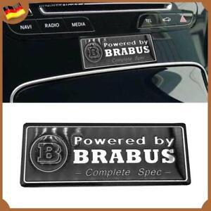 Powered by BRABUS Schwarz Auto Innen Abzeichen Logo Emblem für Mercedes Benz