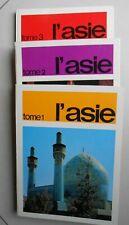 3 Albums Chromos-vignettes/ L'Asie/ Timbre Tintin