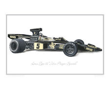Lotus Type 72 JPS - Limited Edition Classic Car Print Poster by Steve Dunn