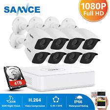SANNCE H.264+ 8CH DVR HD 1080P Outdoor Security Camera System CCTV Surveillance
