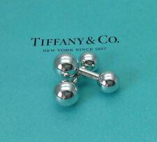 Tiffany & Co. Sterling Silver Barbell Cufflinks Cuff Links