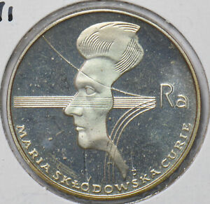 Poland 1974 100 Zlotych Eagle animal Proof Maria Sk?odowska-Curie 294647 combine