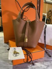 HERMES Picotin 18 Etoupe and Gold Hardware 2020
