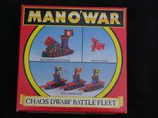 Games Workshop hombre o guerra, caos enano flota anuncio de varios