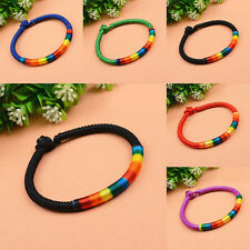 Colorful Braided Woven Thread Friendship Bracelet Ankle String Hippie Unisex New