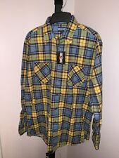 Vintage Big Yank Flannel Shirt Mens Large Button front New