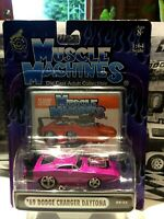 MUSCLE MACHINES 1969 DODGE CHARGER DAYTONA   1:64 DIECAST  69 CHARGER