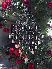 Large Iron Heart Windchime 34 Recycled Metal Rustic Bells Garden Indoor Outdoor