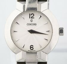 Women's Concord La Scala Stainless Steel Quartz Watch w/ Tapestry Dial