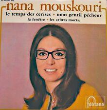 NANA MOUSKOURI le temps des cerises/mon gentil pecheur/la fenetre EP FONTANA VG+