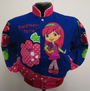 RASPBERRY TORTE JACKET YOUTH MEDIUM CARTOON GIRLS KIDS CUTE STRAWBERRY SHORTCAKE