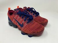 Nike Air Vapormax Flyknit 3 GS Noble Red Blue Size 5Y Women's 6.5 BQ5238-602