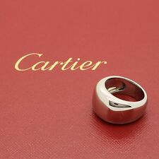 Cartier Nouvelle Vague Ring Circa 1997 in solid 18K White Gold. In original Box.
