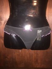 Rampage black mesh babydoll pink  ruffle thong panty sissy knickers size 5/small