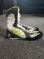 Adidas Boxing Boots RARE Limited Edition XOB 05 Black/White/Lime Green Size UK9