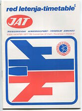 JAT YUGOSLAV AIRLINES WINTER TIMETABLE 1977/78 RED LETENJA JUGOSLOVENSKI AEROTRA