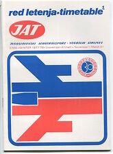 JAT YUGOSLAV AIRLINES WINTER TIMETABLE 1977/78 RED LETENJA JUGOSLOVENSKI AEROTRA