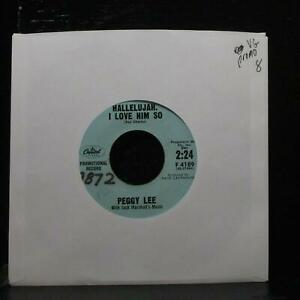 "Peggy Lee - Hallelujah, I Love Him So 7"" VG Promo Capitol F 4189 USA 1959"