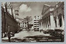 Caracas—University & Capitol RPPC Vintage Venezuela Photo Foto Postcard ~1950s