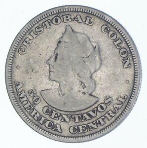EL SALVADOR SILVER COIN 25 CENTS 1943EXCELLENT CONDITION BIGGER THAN A QUARTER