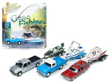 GONE FISHING 2017 RELEASE 1A SET OF 3 1/64 MODELS BY JOHNNY LIGHTNING JLBT001-A