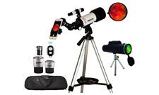 Telescope, 70mm Aperture 400mm AZ Mount Astronomical Refracting Telescope Smartp