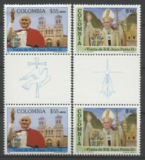 """No: 75911 - COLOMBIA - """"POPE"""" - LOT OF 2 OLD PAIRS - MNH!!"""