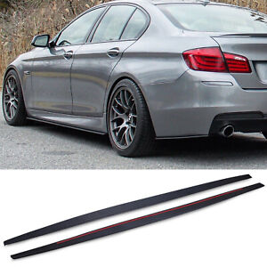 M TECH SPORT LOOK SIDE SKIRT EXTENSION BLADE PAIR FOR BMW 5 SERIES F10 4DR 09-16