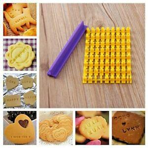 Alphabet Letter Biscuit Stamp Cutter Embosser Fondant Cookie Cake Mould Tools