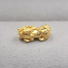 New Pure 24K Yellow Gold Pendant 3D Lovely Small Pixiu Wealth Pendant 14mm H