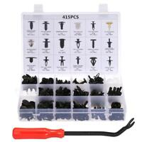 18 Sizes Auto Plastic Push Pin Rivet Bumper Trim Clips Fastener Kit 415PCS Y8M9