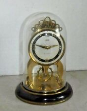 SCHATZ 8 DAY CLOCK OPEN ESCAPEMENT SKELETON GERMAN WORKING 2 JEWELS GLASS DOME