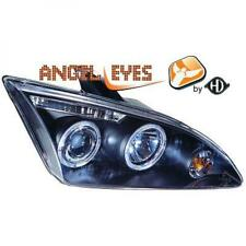 LHD Projector Headlights Pair Angel Eyes Clear Black For Ford Focus II 04-07