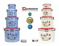 5pc Jumbo Hot Pot Set Round Insulated Kitchen Cold Hot Casserole Food Warmer Set